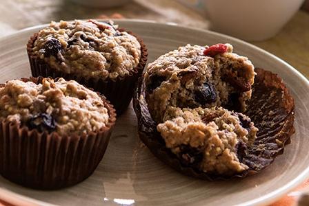 Blueberry Spelt - Millet Muffins
