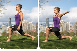 Lunge Hold and Rag Doll Stretch