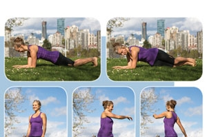 Stagger-Stance Plank and Upper Body Rotations