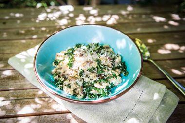 Wild Mushroom and Kale Quinoa Risotto