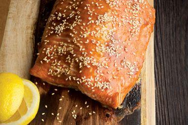 Cedar Planked Maple Miso Salmon