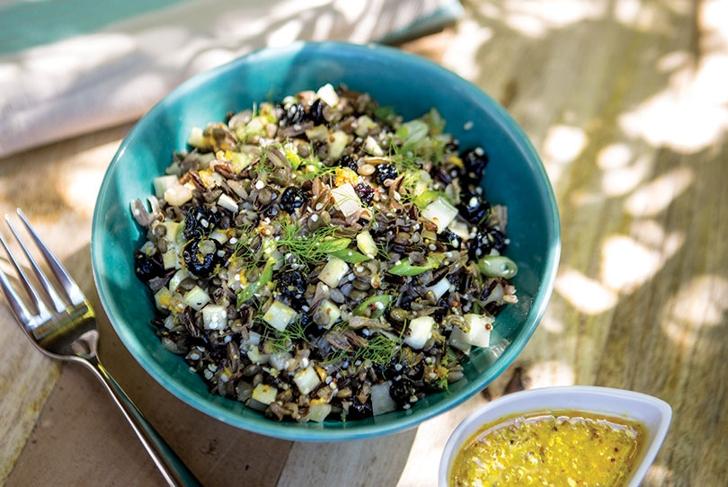 Wild Rice with Lentil Salad with Orange Vinaigrette