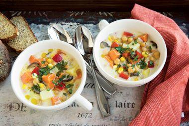 Creamy Roasted Vegetable Chowder