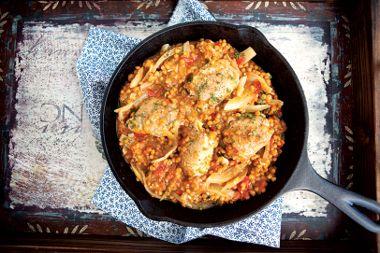 Mediterranean Chicken and Lentils