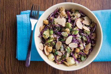 Sweet and Spicy Quinoa, Cabbage and Apple