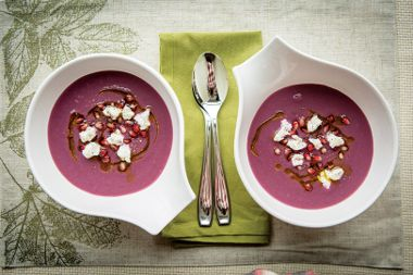 Red Cabbage Pear Soup