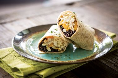 Southwest Black Rice and Chicken Burritos with Butternut Squash
