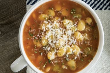 Tomato Herb Butter Bean Soup