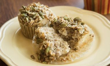 Gluten Free Banana Muffins with Seeded Streusel