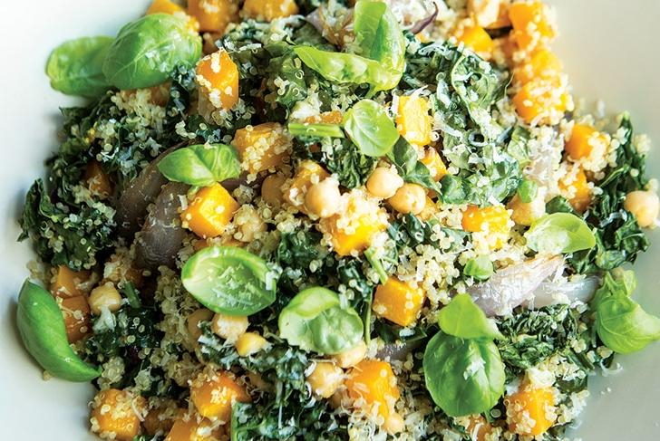 Tuscan Kale, Squash, and Quinoa Salad