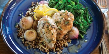 Lemon Thyme Chicken and Shallots