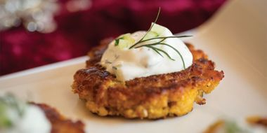 Squash and Chickpea Fritters