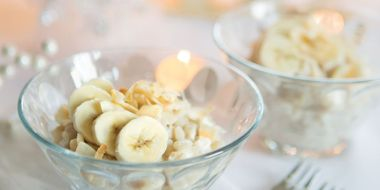 Toasted Coconut Rice Pudding with Bananas