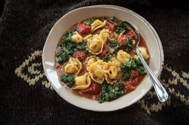 Whole Grain Tortellini and Tomato Basil Soup