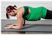 Plank with single leg raise