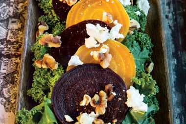 Roasted Beetroot Salad with Walnut Maple Dressing