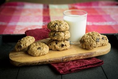Toasted Almond and Orange Chocolate Chip Cookies