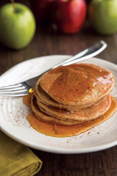 Tri-Spiced Applesauce Pancakes