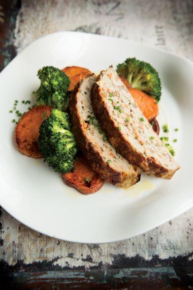 Turkey-Lentil Meatloaf with Orange-Roasted Veggies