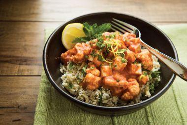 Cauliflower Tofu Red Curry
