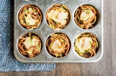 Crispy Muffin Tin Pasta Nests