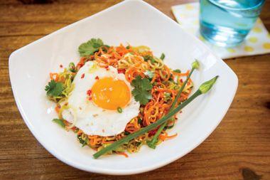 Carrot Noodle Salad Eggs