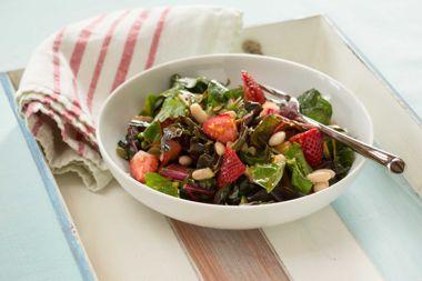 Chard and Strawberry Salad