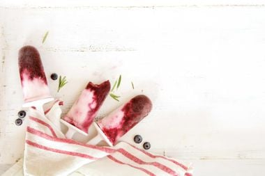 Rocket Rosemary Berry Pops