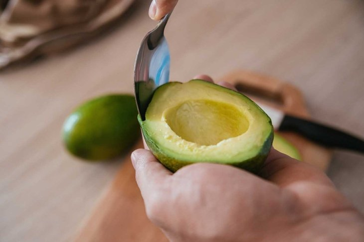 Avocado Cut In Half And Prepared