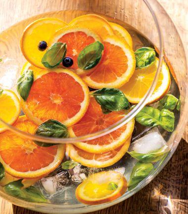 Basil, Blueberry, Orange Punch