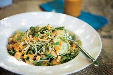Miso Peanut Noodle Salad