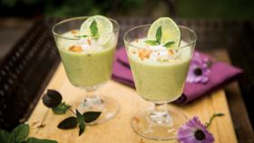 Coconut, Basil, and Lime Panna Cotta
