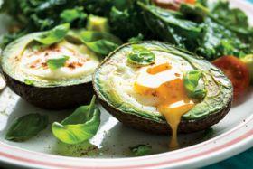 Eggy Avocado Boats & Kale Salad