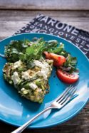 Farmers' Market Frittata with Asparagus, Chives, Mint, and Goat Cheese