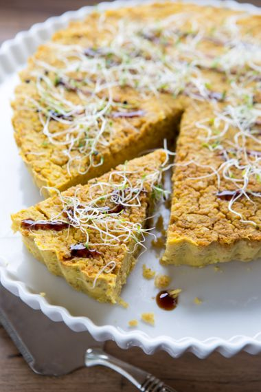 Greek Millet, Chickpea, and Golden Beet Tart with Dill