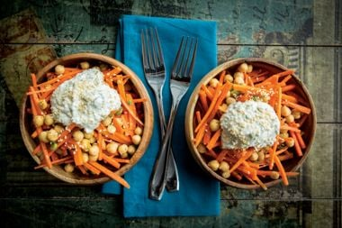 """""""Open-Sesame"""" Carrot and Chickpea Salad"""