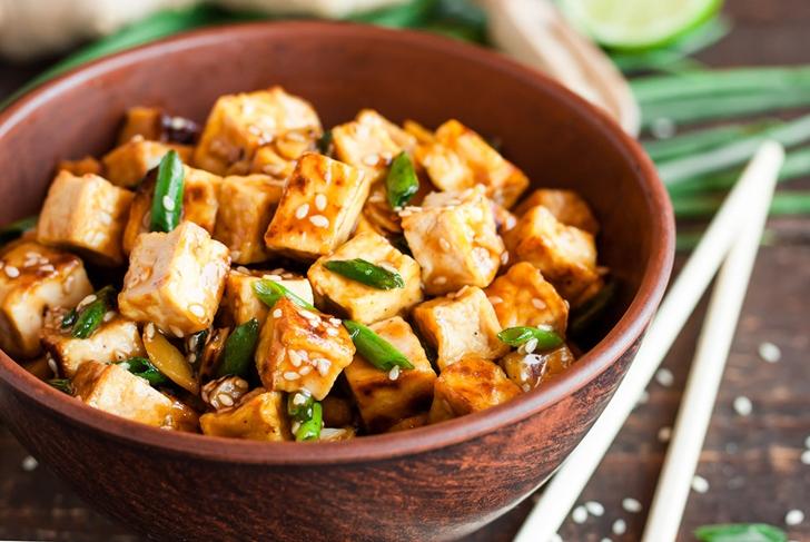 fried healthy tofu vegetarian