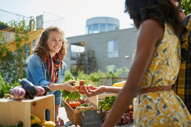 buying organic and local
