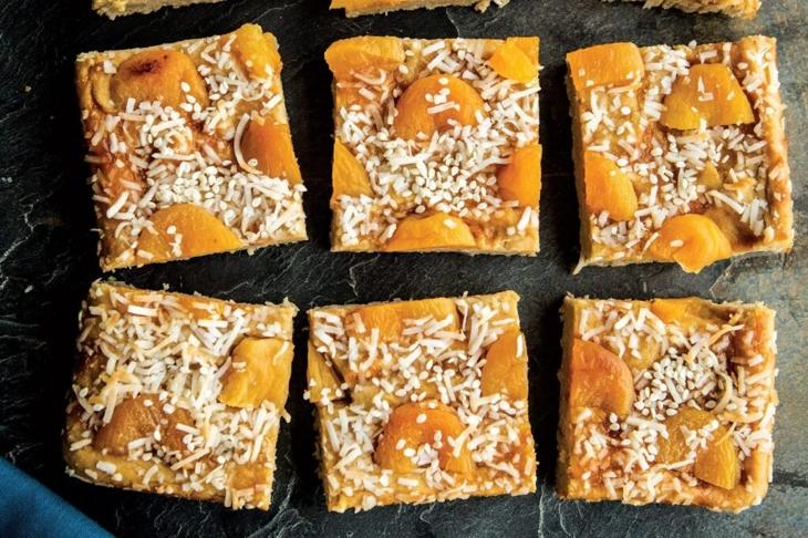 Sesame Apricot Blondies