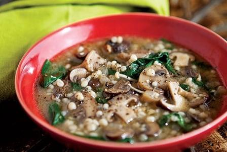 Healthy Soup Recipes-Mushroom and Barley Soup