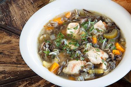 Healthy Soup Recipes-Turkey, Mushroom, and Wild Rice Soup