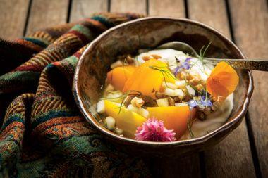 Savoury Beet Yogurt Bowls with Elderflower Dressing