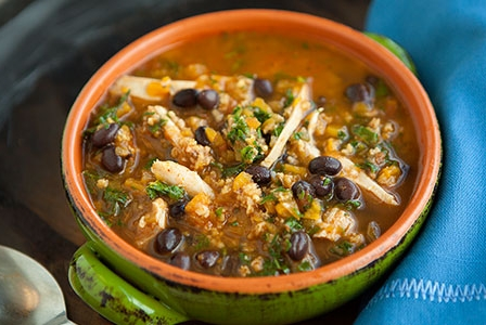 healthy-dinners-mexican-chicken-squash-and-toasted-millet-soup