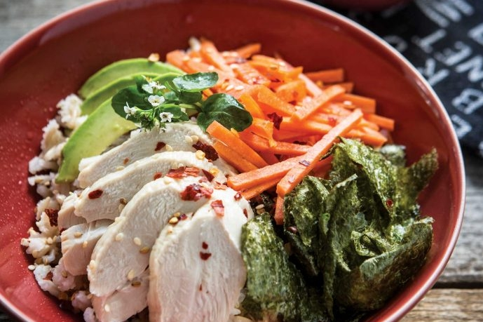 healthy-dinners-roasted-chicken-sushi-bowls