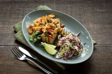 Pulled Jackfruit With Slaw and Gluten-Free Cornbread