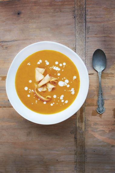 Curried Apple and Butternut Squash Sou