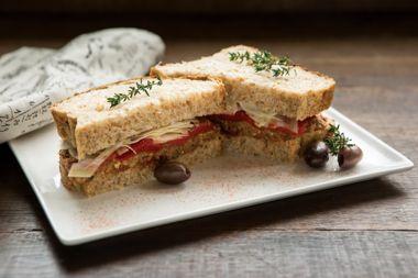 Mediterranean Lentil Sandwich