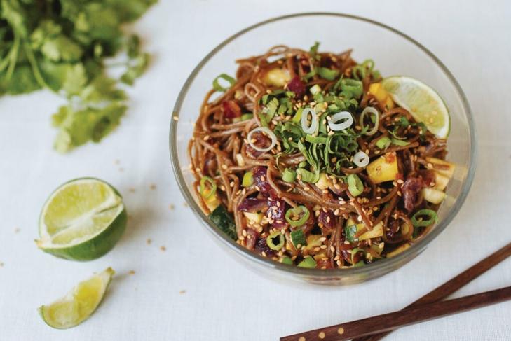 Vegan comfort food-Buckwheat Noodle Pad Thai