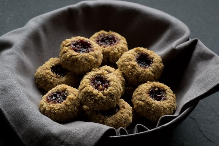 Walnut Raspberry Jam Thumbprints