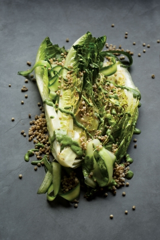 Romaine and Sorghum Salad with Coconut Green Goddess